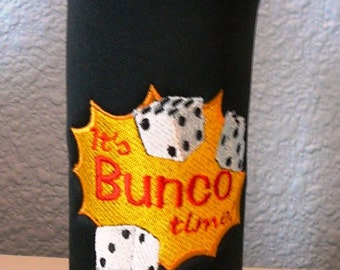 Bunco Cozy - It's Bunco Time Bottle Cozy