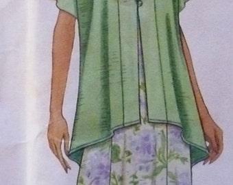 Maxi Dress Hi Low Hem Pattern Simplicity 9087 Size XS to M UNCUT