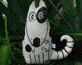 Woof the Dog, hand sceen printed cotton plushy dog