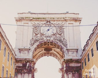 Travel Photography, European Photography, Charming, Lisbon Print, White Architecture, Romantic Travel Print - Under the Arch
