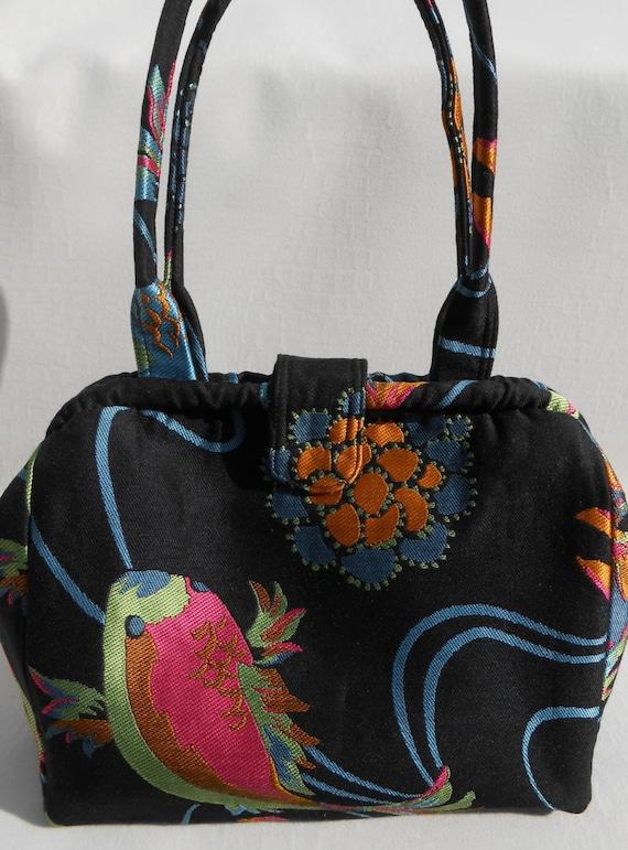 Koi fish black doctor bag for Koi fish purse