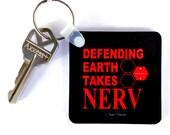Neon Genesis Evangelion Keychain: Defending Earth Takes NERV
