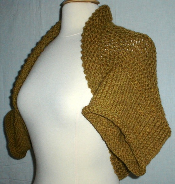 Knitting Pattern Only for Sweater Shrug Bolero Cardigan by ...