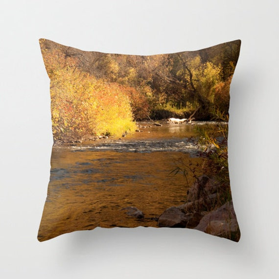 Art Throw Pillow Cover Rustic Fall by SylviaCPhotography on Etsy