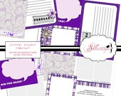 INSTANT DOWNLOAD Project Journal - FEBRUARY Printable 4x6 and 3x4 Journal Cards for Project Life, Project 365, Scrapbooking
