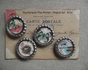 Magnet Set - Birds and Butterfly