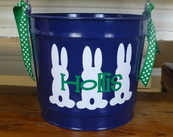 Personalized Easter Bucket - 10 QT assorted colors