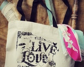 Live Love Junk Canvas Tote by Junk Love and Co.