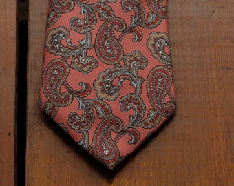 vintage christian dior paisley tie