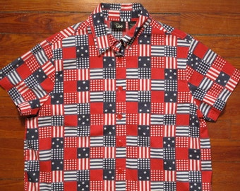 women's vintage americana Ms. Lee button up.