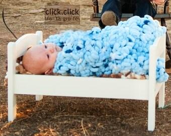 Baby Blue Blanket Baby Props Blanket  24x24 Photo Blanket