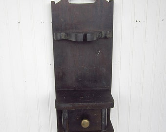 Vintage Wooden Wall Shelf Handcrafted And Primitive
