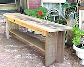 """MuD RooM Bench ~ Country Primitive GARDEN Bench ~ Bigger One ~ w/ FREE SHiPPiNG! ~  52-54"""" Seat ~ See Pics & Details! ~ Un-Beatable Price!"""