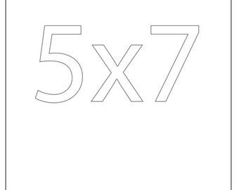 5x7 print ANY CITY