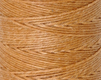 Tools & Supplies-4-Ply Irish Linen Cord-Waxed-Butterscotch-Quantity 10 Yards