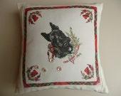 Vintage Scottish Souvenir Handkerchief Cushion