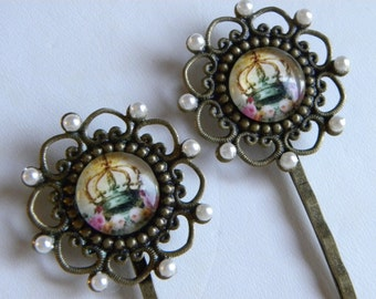 Hair Pins, Bobby Pins, Decorative Hair Bobbie Pins, Barrettes