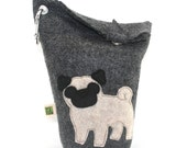 Dog Poop Bag Holder Small Leash Bag Pug
