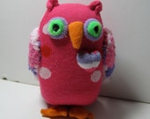 OWLivia a valentine sock toy with a purple heart is a perfect gift for someone special