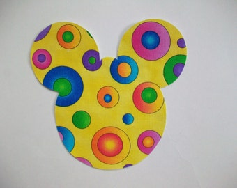DIY Mickey Mouse Applique - Iron On
