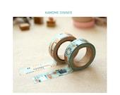 Washi Tape 15mm 2Rolls MASKING TAPE SET Multi Use- Kamome Dinner