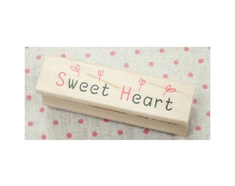 Sweet Heart Message Rubber Stamp