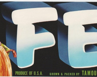 Fez Grape crate label