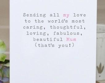 Greetings Card - 'Beautiful Mum'