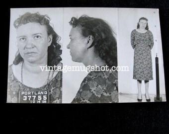 1958 Angry Redhead Portland Oregon  Police Department Criminal MUG SHOT