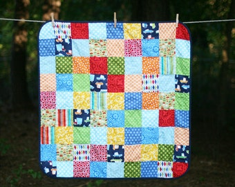 READY TO SHIP - Vehicle Baby Boy Quilt