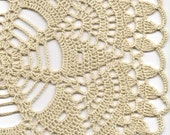 Christmas gift, Crochet doily, lace doilies, table decoration, crocheted doilies, centre piece, hand made, table runner, napkin, ecru
