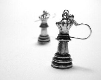Geekery Earrings - Geek Jewelry - Chess Earrings - Geek Earrings - Sterling Silver Chess Jewelry - Geekery Jewelry - Nerdy Nerd Jewelry 018