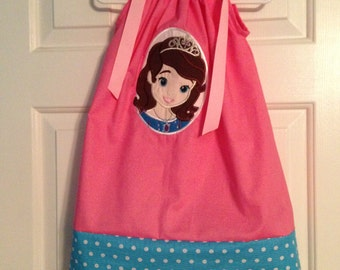 Pink Dress with Disney Inspired Princess Sophia