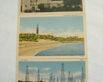 Set of Three Antique Postcards,