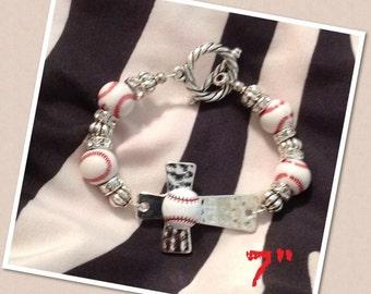 Baseball Cross Bracelet