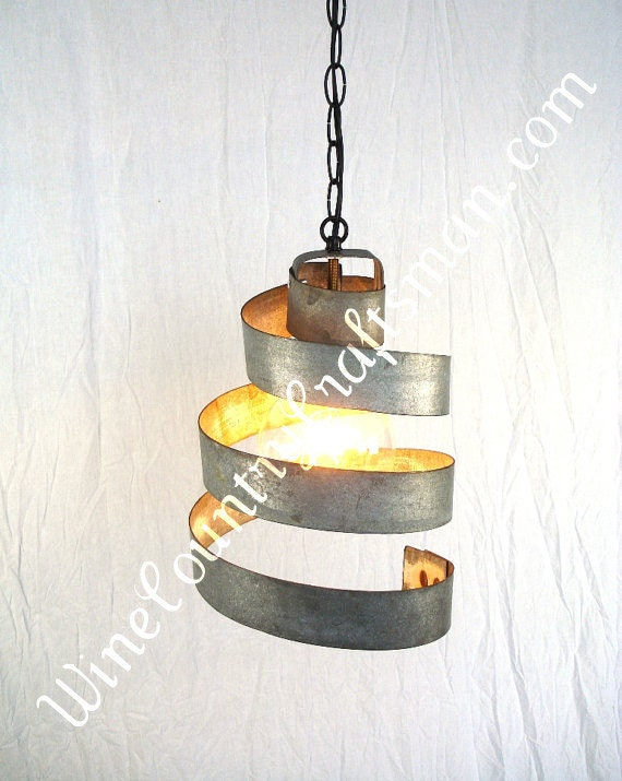 "CORBA  - ""Lavaliere"" - Pendant Wine Barrel Ring Light - 100% Recycled"