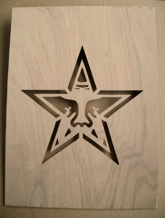Obey Star Wooden Stencil Shepard Fairey