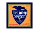 Small Journal - Bird Valley Apples - Fruit Crate Art Print Cover