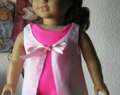 Swimsuit and pretty cover-up for american girl or any 18 inch doll
