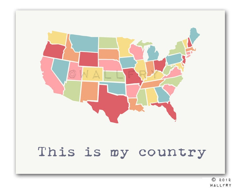 USA Map Kids Wall Art Us Map For Kids Playroom Decor World - Usa map buy