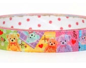 Colorful Teddy Bears & Hearts Deco Tape Adhesive Stickers DT384 25meters