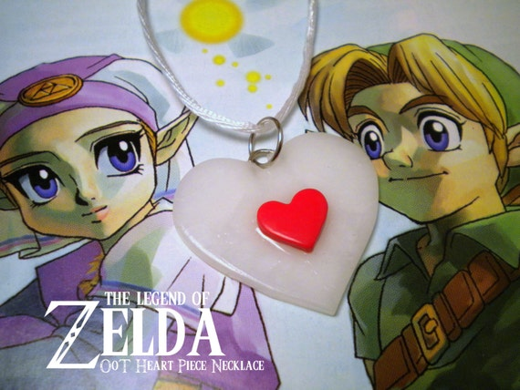 Ocarina of Time Heart Piece Necklace - Legend of Zelda - Nintendo