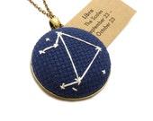 Libra Zodiac Constellation Needlecraft Necklace