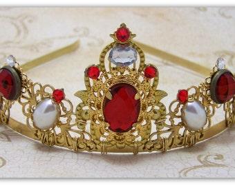 Medieval Crown - Renaissance Crown, Reign Tiara, Reign Crown, Medieval Jewelry, Renaissance Jewelry, Tudor Crown, Catherine de' Medici