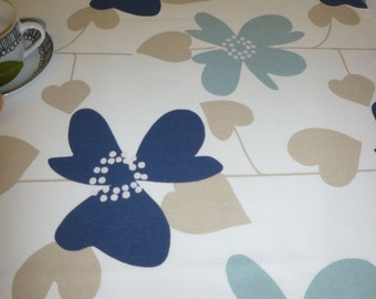 "Table Runner Blue Navy Beige Brown White UK Funky Sideboard/ Coffee/ Console Table Cotton (54"" 137cm)"