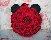 Mickey Mouse Pomander - Red Ranunculus Wedding Pomander