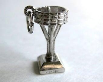 20mm Potash symbol Saskatoon, Saskatchewan, sterling silver charm, this cute vintage pendant in excellent condition
