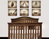 The Sports Collection, Set of Nine photo prints, Nursery Decor, Rustic Decor, Vintage Sports Decor, Sports Room, Sports Art