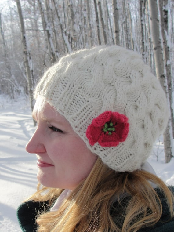Knitted Hat Patterns For Women : Instant Download Knit Hat PATTERN PDF Womans by mysecretwish