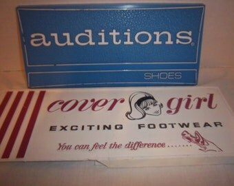 Vintage Shoe Display Signs Auditions & Cover Girl Plastic